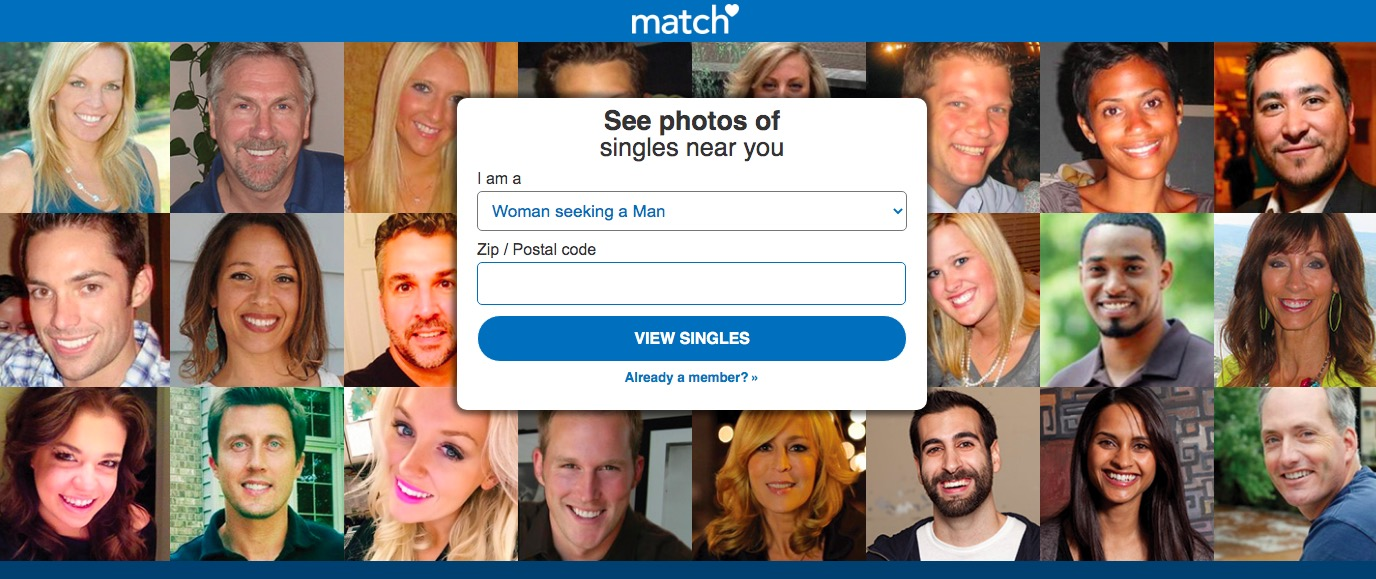 match.com main page new